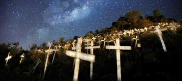 Each cross represents a white murder in South Africa