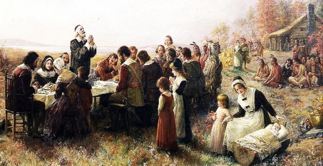 First Thanksgiving At Plymouth in 1914 TheySay