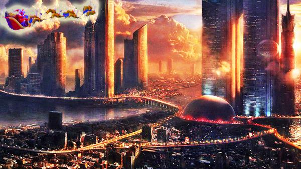 futuristicMegaCitySanta