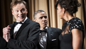 Why does Conan look so guilty And Obama so upset?