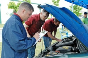 fixing cars