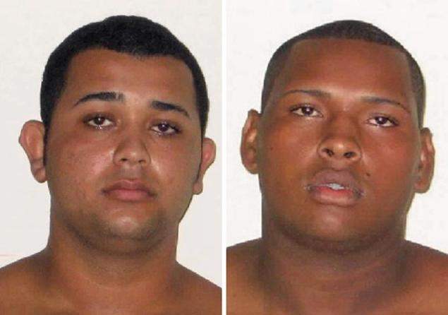 Jonathan Froudakis de Souza , 20, (left) and Wallace Aparecido Silva, 22, (right) are accused of raping an American tourist on a minibus in Rio de Janeiro on Saturday, while her French boyfriend was handcuffed and brutalized inside the vehicle. A third man was also detained.