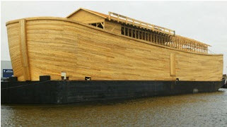 This is an actual size of Noah's Ark.