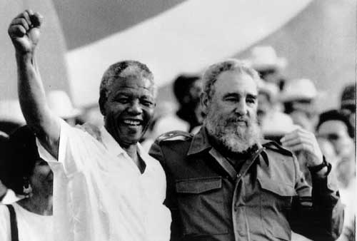 President Obama's Hero Mandela with Mandela's Hero