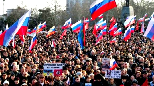 Pro-Russia Rally in Crimea