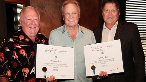 Tommy Roe Receives Special Honors InNashville