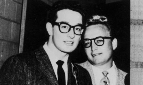 Buddy Holly with Cliff Ayers