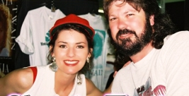 Shania Twain pictured with Frans Maritz