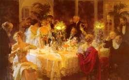 People AROUND  adinner table