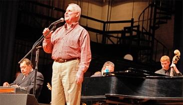 Phil on stage