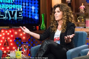 Shania On TV set