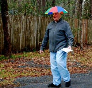 Just walking in the rain