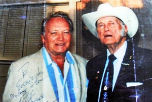 Cliff Ayers with Bill Monroe