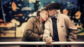 Loving Elderly Couple-Old Couple Hold Hands