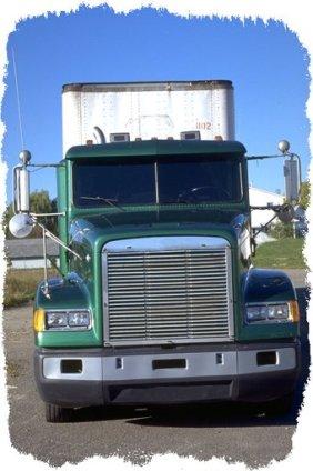 semi trailer 16 (trucks green truck work rig cargo transport)