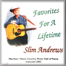 This is one of the CDs by Slim Andrews on display at the Maine Country Music Hall of Fame.