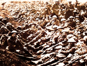 South African soldiers just before battle
