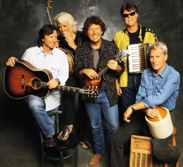 The Nitty Gritty Dirt Band (from left) Jeff Hanna, John McEuen, Jimmy Ibbotson, Bob Carpenter and Jimmie Fadden perform Saturday night as part of the Iowa Arts Festival in Iowa City.