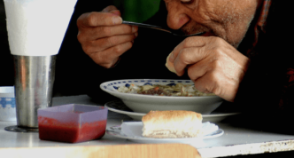Old man eating 1