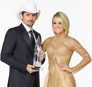 THE 50th ANNUAL CMA AWARDS - Country superstars Brad Paisley and Carrie Underwood will be returning to host Country MusicÕs Biggest Night in 2016. ÒThe 50th Annual CMA AwardsÓ airs live from the Bridgestone Arena in Nashville on WEDNESDAY, NOVEMBER 2 (8:00-11:00 p.m. EDT), on the ABC Television Network. (ABC/Bob D'Amico)