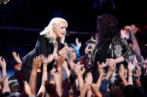 "THE VOICE -- ""Live Finale"" -- Pictured: (l-r) Meghan Linsey, Sarah Potenza -- (Photo by: Tyler Golden/NBC)"